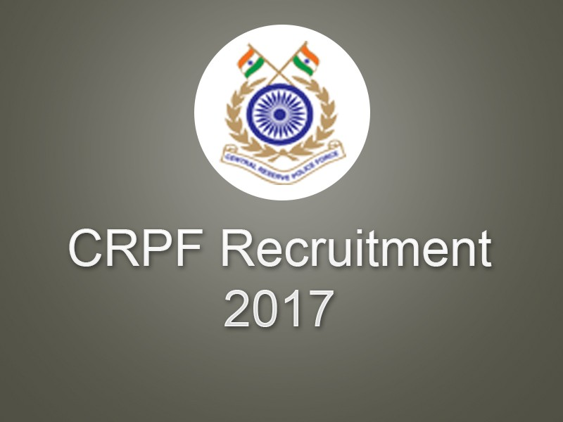 Central Reserve Police Force Admit Card 2017